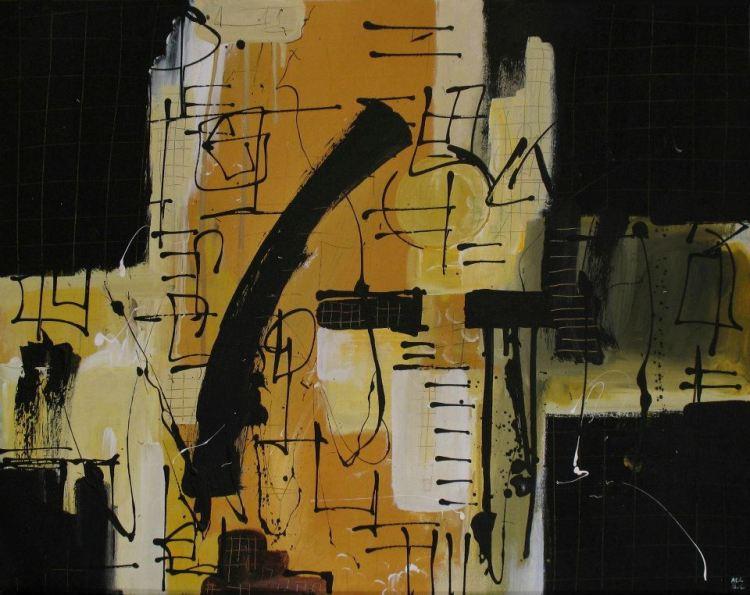 HoldTheLine #4 (60,5cmx47,5cm, acrilico su legno, 2011)