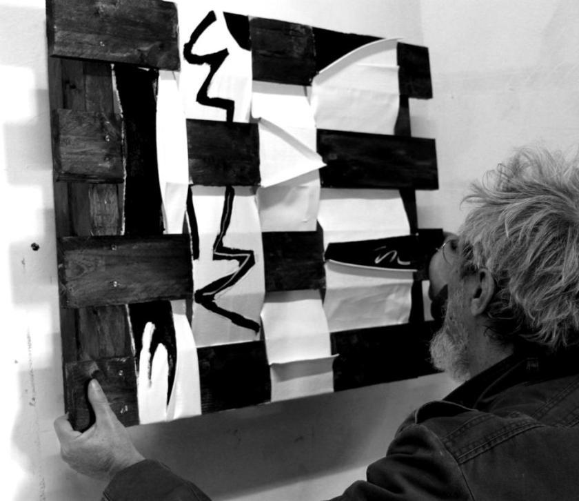 """Franco Sciusco  """"Untitled""""  Tecniche miste  (45x45cm.)  All right reserved"""