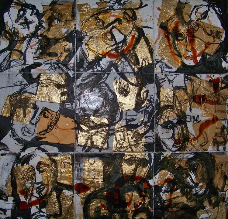 Déjà Vu 1 Mixed media on 09 frames 120 x 120 cm 2012