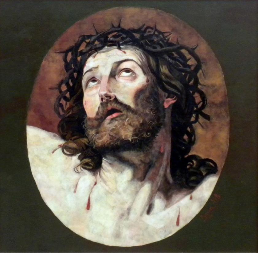Cristo incoronato di spine - da Guido Reni a Rosanna Vittii -Tempera su tavola