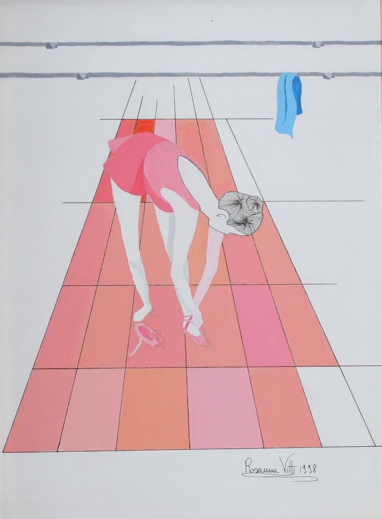 Dietro le Quinte- Behind the Scenes-Olio su tela con imprimitura - Oil on canvas with primer- (40x30 cm.)