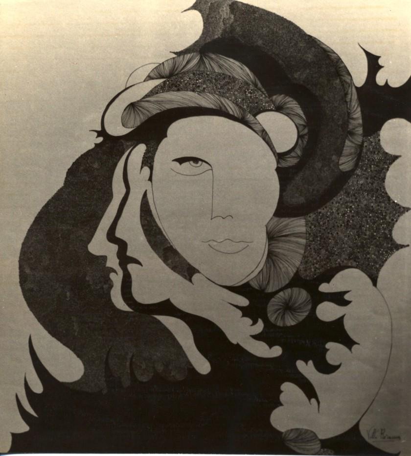 .Untitled- Inchiostro di china su cartoncino 70x50 cm.