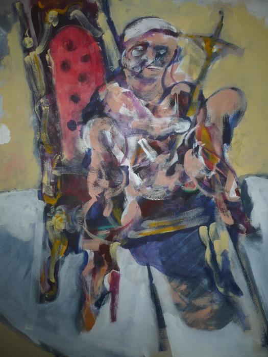 Vaclav Pisvejc-Trono- Acrylic on canvas - (110x90x4 cm.)
