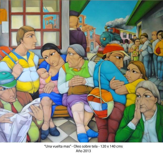 una vuelta mas Primer Premio Artepunta 2014  (Punta del Este-Uruguay) - Oleo sobre tela - Oil on canvas- (  120x120 cm.)