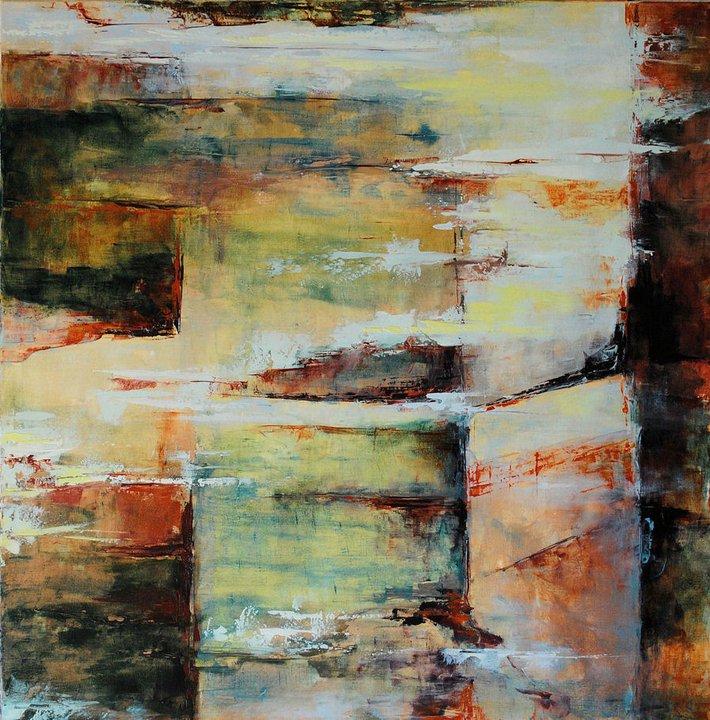 Françoise Dugourd-Caput Arberats-Mistère. Oil on canvas- (100x100 cm.) 2011