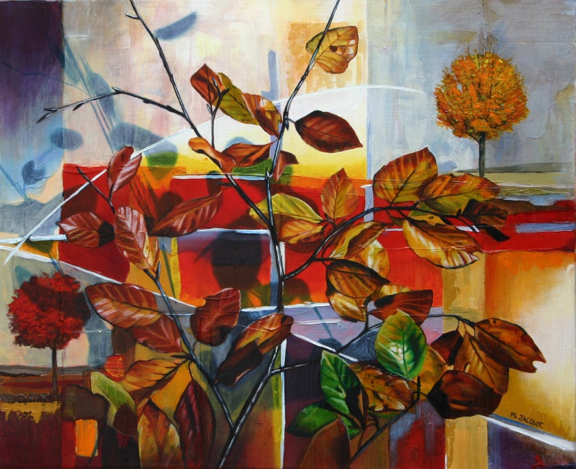 Philippe Jacquot-Autumn- Oil on canvas - (50x70cm.) All Rights Reserved
