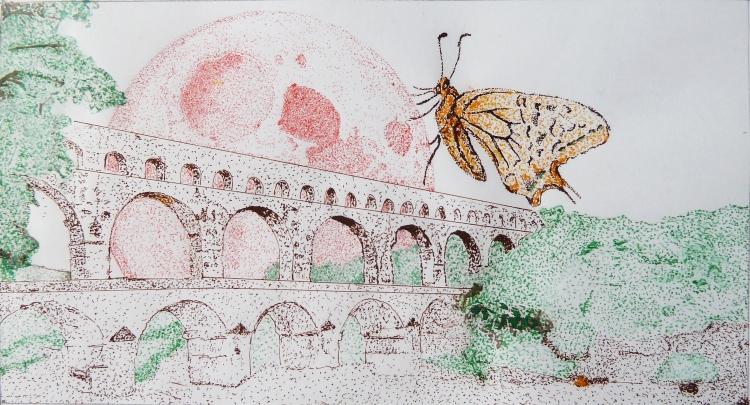 La luna e la farfallauna