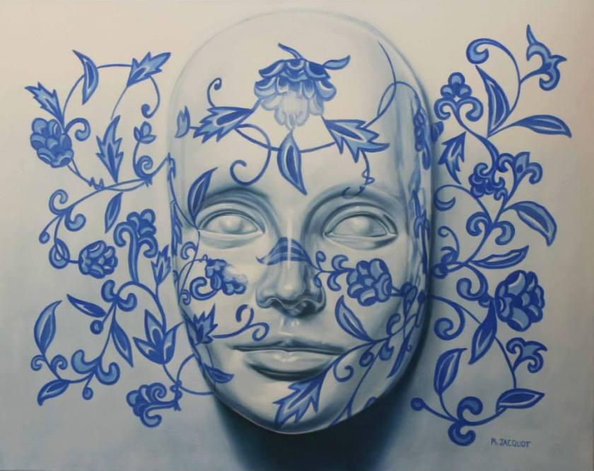"Philippe Jacquot ""tTeint de porcelaine- ( 80x100 cm) All Rights Reserved"