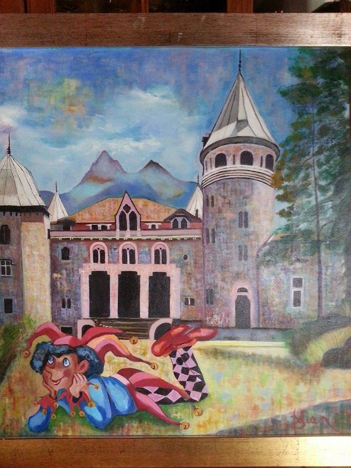 Delia Saba - The magic Castle -- Olio su tela - Oil on canvas  ( 60x80 cm.)