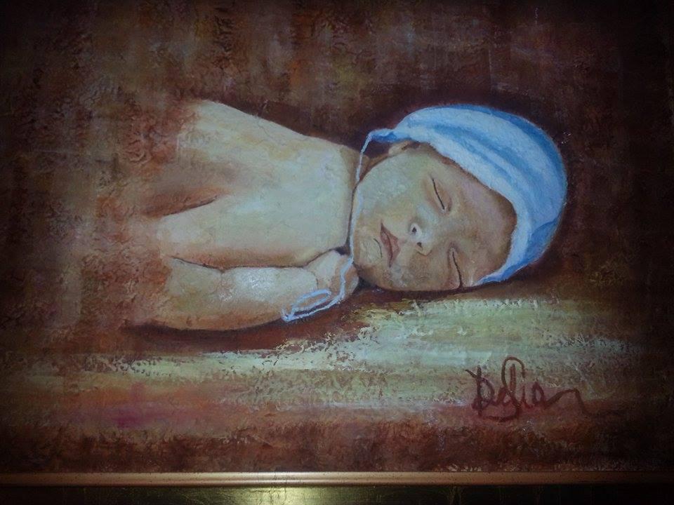 Delia Saba- Il Sogno- Olio su tela -The Dream- Oil on canvas