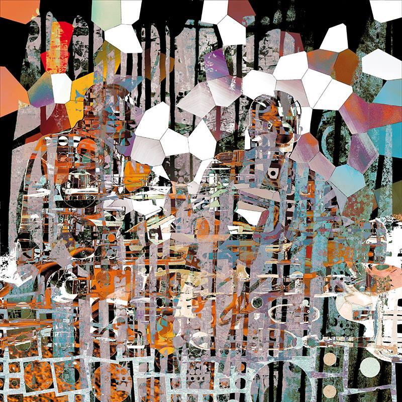 Alain Vassière- Untitled-Digital Art-(100x100cm.)