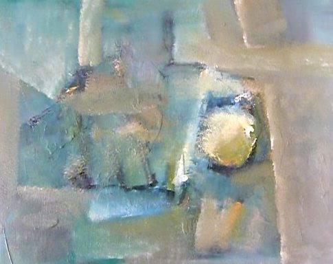 Riccardo Cerise -Composizione evanescente- olio su tela-  Evanescent composition  (40x50cm.)