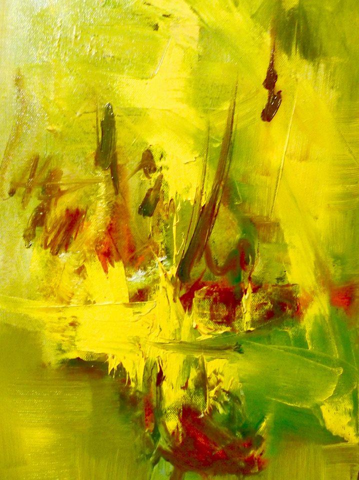 Riccardo Cerise - Estate - olio su tela- Summer - (100x60cm.))