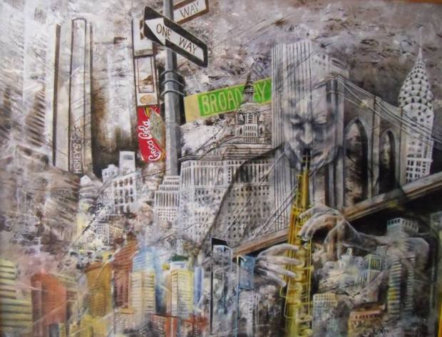 Silvana Rannucci - Live and Jazz - Acrylic on canvas (100x100 cm.)