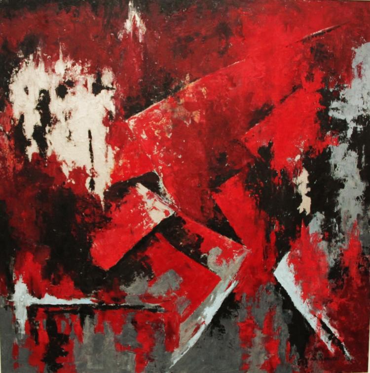 Silvana Rannucci - Fusione- Acrilico su tela-  Fusion- Acrlyc on canvas - (100x100 cm.)