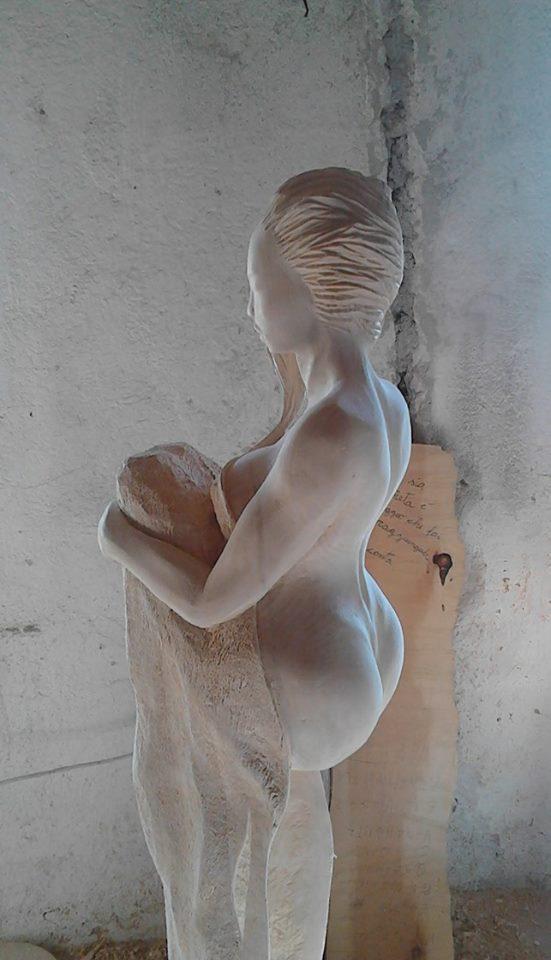 Marco Martalar-Invisibili Seduzioni- legno di Tiglio - Invisible Seduzioni- Lime Wood- H=170 cm.