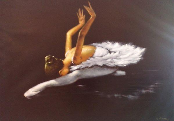 Bui Hui Quang - Ballerina- Olio su tela- Wagtail- Oil on Canvas- ( 60x100cm.)