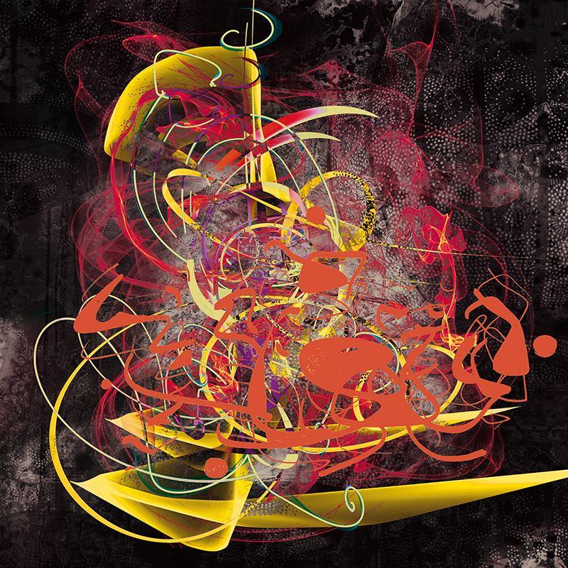 Alain Vaissière- Untitled - Digital Art (100x100 cm.)