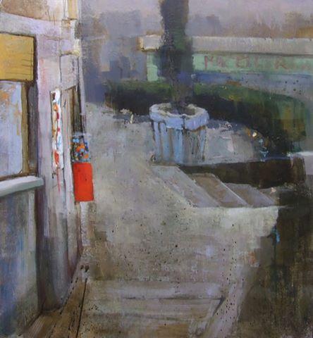 Andrea Mazzoli-senza titolo- Tecnica mista- -untitled- Mixed Media on Table (58x54 cm.)