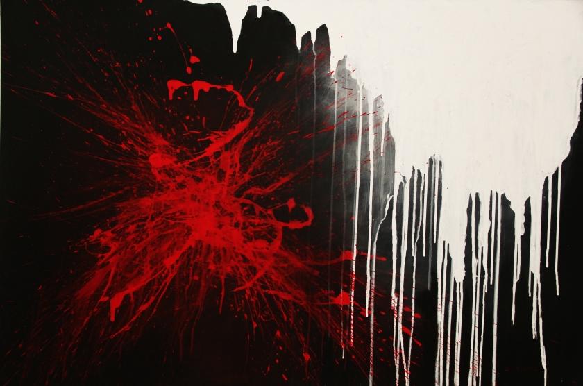 Silvana Rannucci -Senza Titolo- Acrilico su tela - Untitled- Acrylic on canvas- (80x120 cm.)