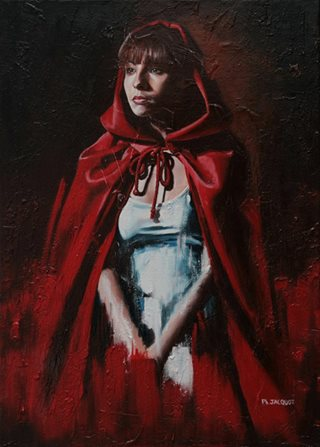 La cape rouge Huile sur toile 50x70cm