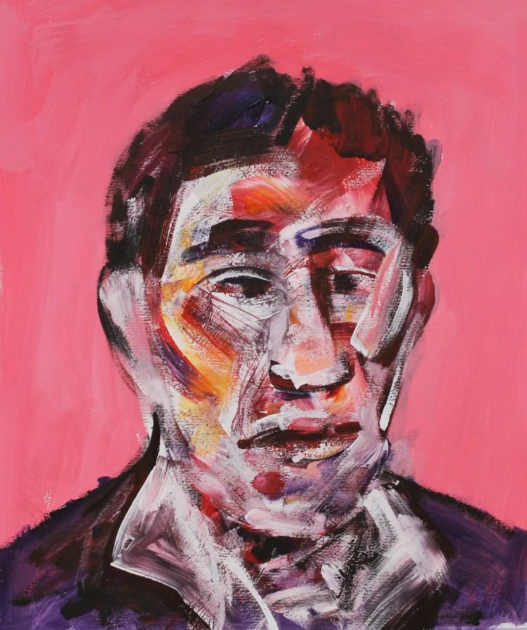 Vaclav Pisvejc- Chris Burden - Olio su tela - Oil on canvas - (80x60 cm.)