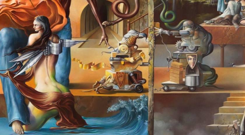 Oleg Osipoff- Фрагмент- Frammento - Oil on canvas. Olio su tela