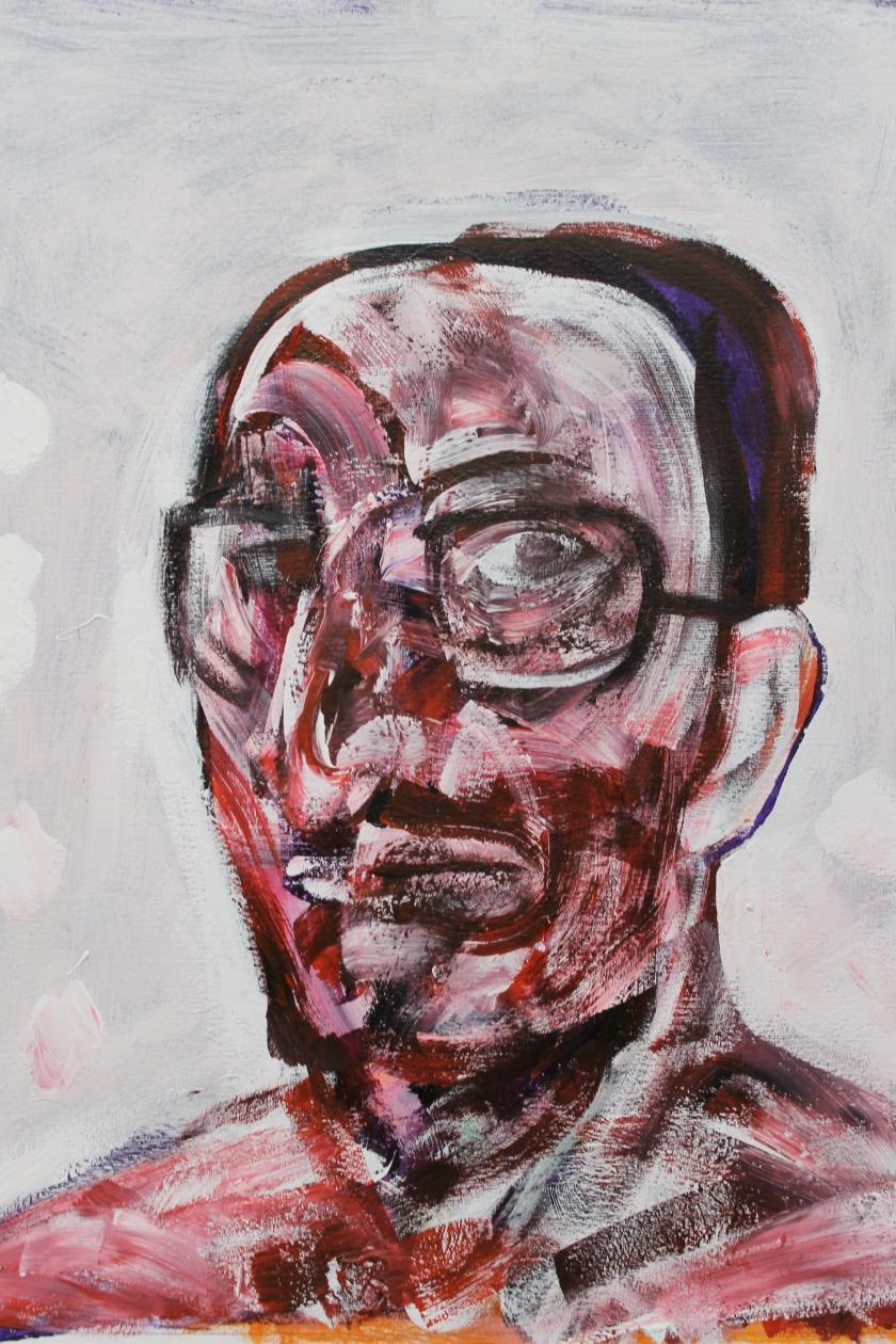 Vaclav Pisvejc - Jonathan Monk - Oil on canvas -. (80x60 cm.)