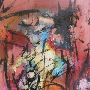 Riccardo Cerise- Ladro di sogni - Smalti e olio su tela- Thief of dreams- Enamels and oil on canvas (50x40 cm.)